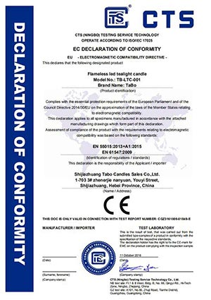 CE Certificate For Flameless Led Tealight Candles