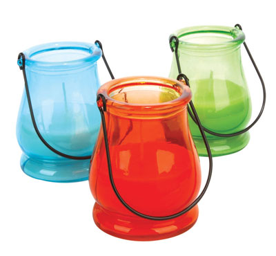 Mason Glass Jar Citronella Candles