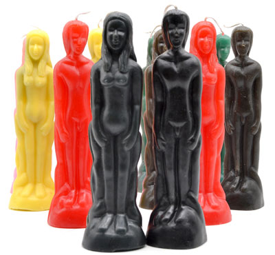 Hand-Made Colorful Human Figure Candles