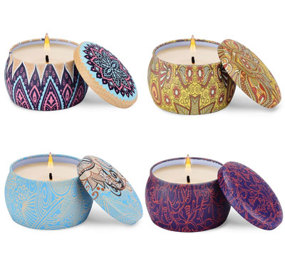 Colorful Travel Tin Shape Scented Tin Candles