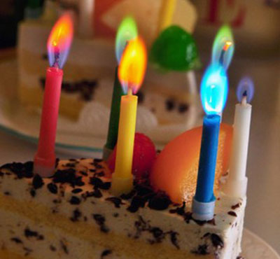 Colorful Flame Birthday Cake Candles