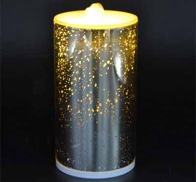 Rechargeable 3D Glass Spot Flameless Candle Fountain With 3D Battery