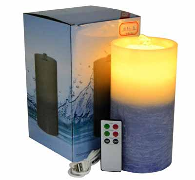 Gradient Color Flameless Candle Fountain With Lithium Battery