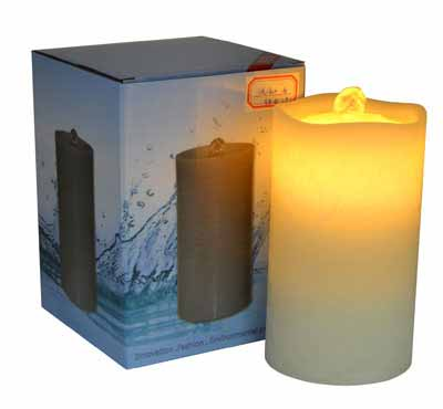 Lithium Battery Wave Top Flameless Candle Fountain With Remote Control