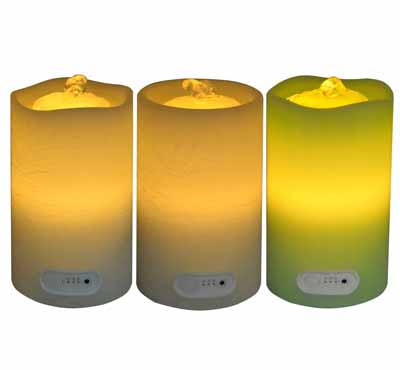 Wave Top Flameless Candle Fountain With Timer Button