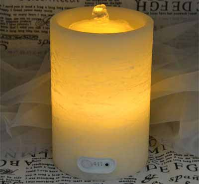 Flat Top Flameless LED Candle Fountain With Timer Button