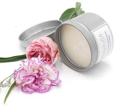 Scented Soy Wax Candles In Round Tin Can