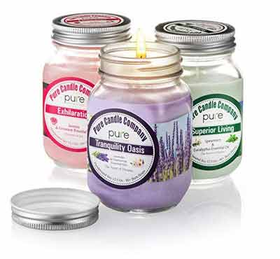 Scented Candles In Square Glass Jar