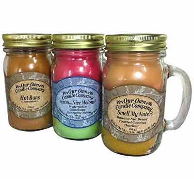 Wholesale Large Scented Glass Mason Jar Candles With Handle