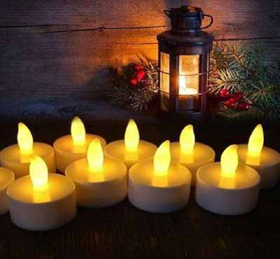 Battery Operated Flickering Warm Light Flameless Tealight Led Candle