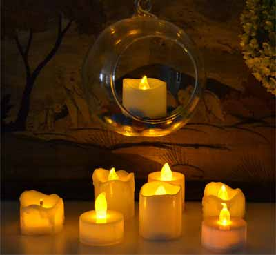 Flameless Votive Candles Battery Operated Led Tea Lights Flickering Amber Tealight Candles