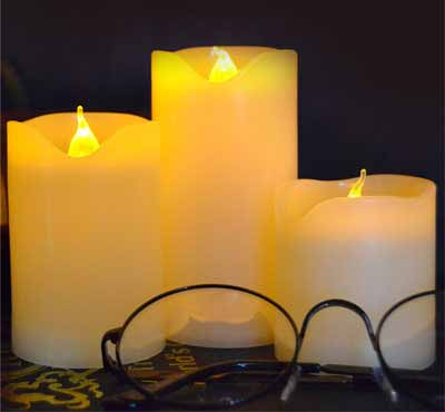3pcs/Lot Small Battery Operated Led Candle With Long Lasting Bright Light Flameless Led Pillar Candle Set With Hight Quality