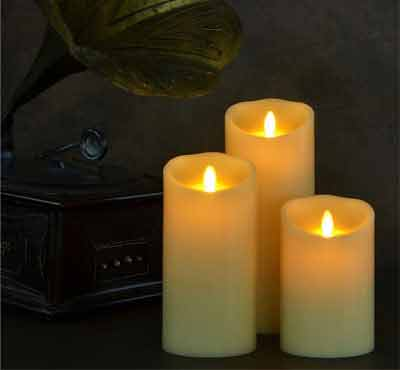 Wave Top Flameless Moving Flame Led Candles