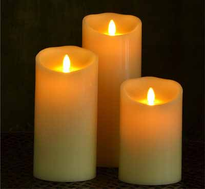Remote Control Moving Flame LED Pillar Candle