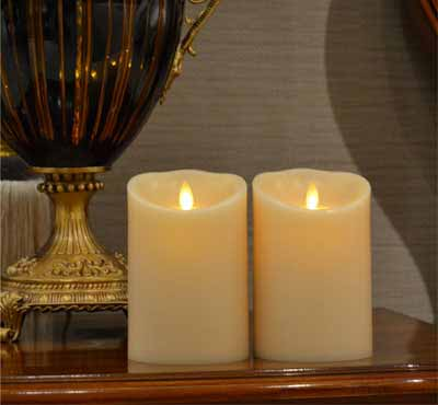 Flameless Moving Wick Candle With Timer For Wedding Christmas Event Hotel Decoration
