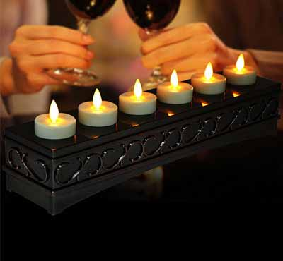 Remote Control Flameless Wireless Rechargeable Tealight Led Candle With Moving Flame