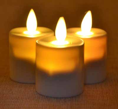 Battery Operated Warmer Moving Flame Votive Mini Led Tea Light Candle