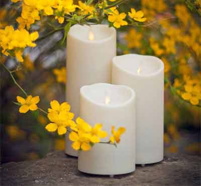 Outdoor Waterproof Plastic Moving Wick Flameless Led Candle With Timer And Remote