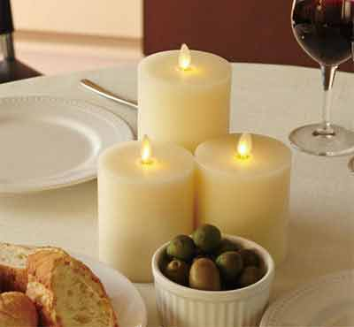 Unscented Flameless Remote Control Led Moving Wick Flat Top Candles