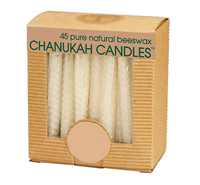 Single Color Hand Rolled Beeswax Hanukkah Candle