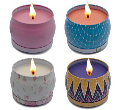 Scented Travel Tin Candles