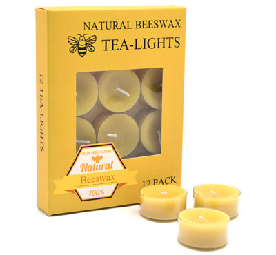 Wholesale Organic Beeswax Tealight Candles