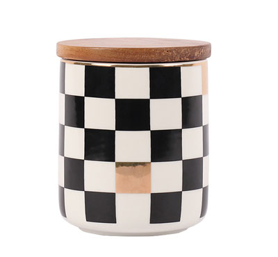 Bulk Ceramic Jar Candles With Square Figure