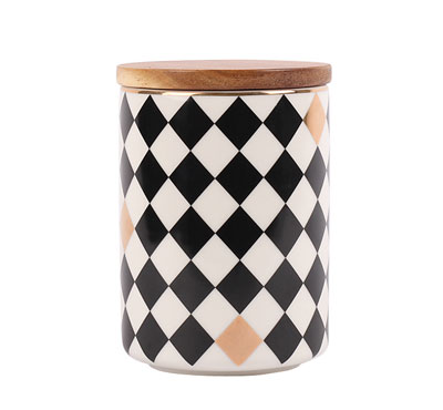 Wholesale Diamond Pattern Ceramic Jar Candles