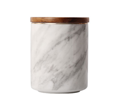 Scented Marble Print Ceramic Jar Candles DIY