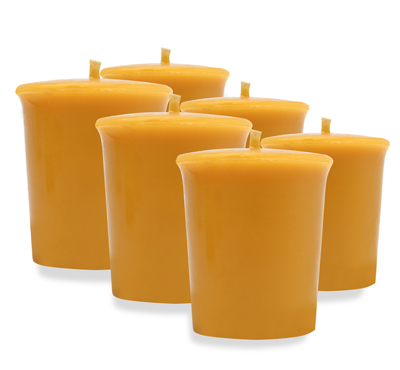 Homemade Natural Beeswax Votive Candles