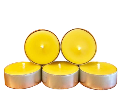 Bulk Pure Beeswax Tea Lights Candle In Aluminum Cup