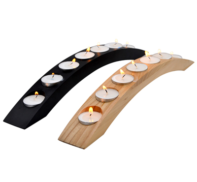 Wooden Bridge Shape Tealight Candle Holder