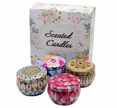 Travel Tin Shape Scented Tin Candles