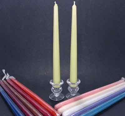 Colorful Taper Dinner Candles