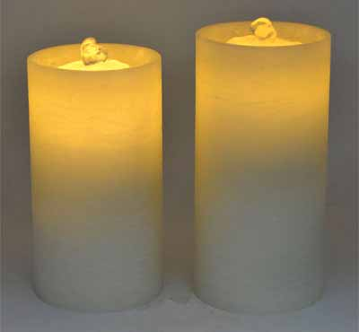 Rechargeable Flat Top Flameless Candle Fountain With Remote Control