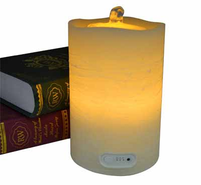 Wave Top Flameless LED Candle Fountain With Timer Button