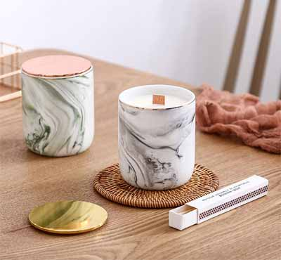 Marble Scented Jar Candles DIY