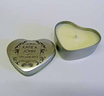 Bulk Scented Heart Tin Box Candles