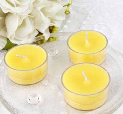 Different Colors Natural Soy Wax Tealight Candles With 3% Scent In Plastic Shell