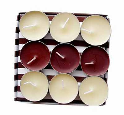 Colored Pouring Tea Wax Tealight Candles