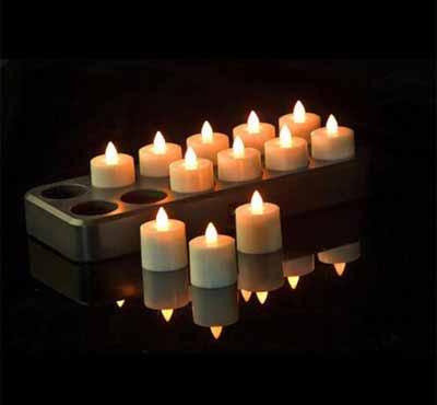 Flameless Tea Lights With Timer Remote Control Tea Light