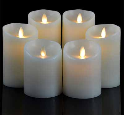 Set Of 3 Mini Flameless Moving Wick Battery Operated Artificial Led Candle With Timer 3