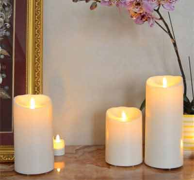 Battery Moving Flame Outdoor Water Resistant Led Candles