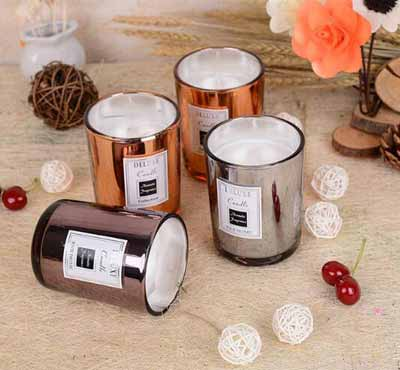 Electroplated Glass Jar Soy Wax Candles