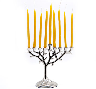 Single Color Dripped Beeswax Hanukkah Candle