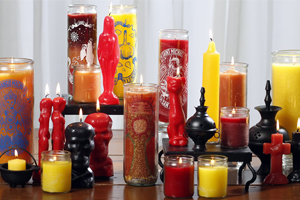 Glass church candles color meanings