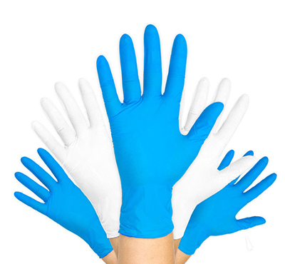 Hot selling powder-free disposable blue nitrile examination gloves
