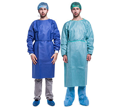Good Quality Surgical Clothes SMS Hospital Disposable Isolation Gown