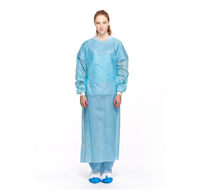 Hospitals medical accessories PE laminated disposable isolation gown