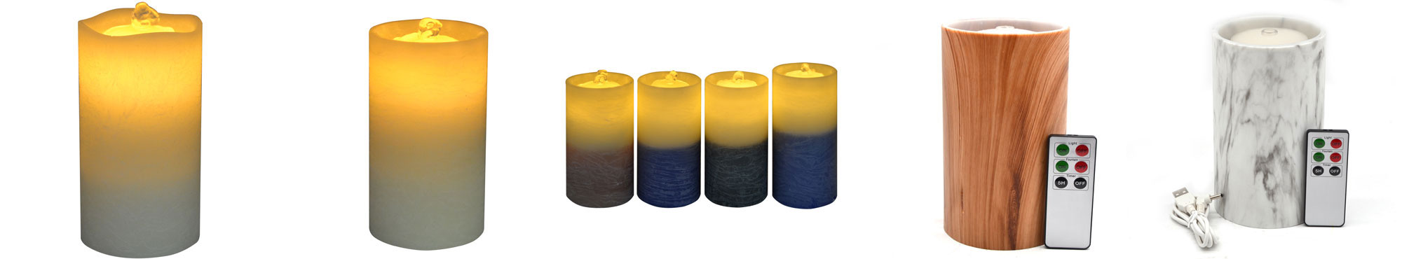 flameless candle fountain with timer